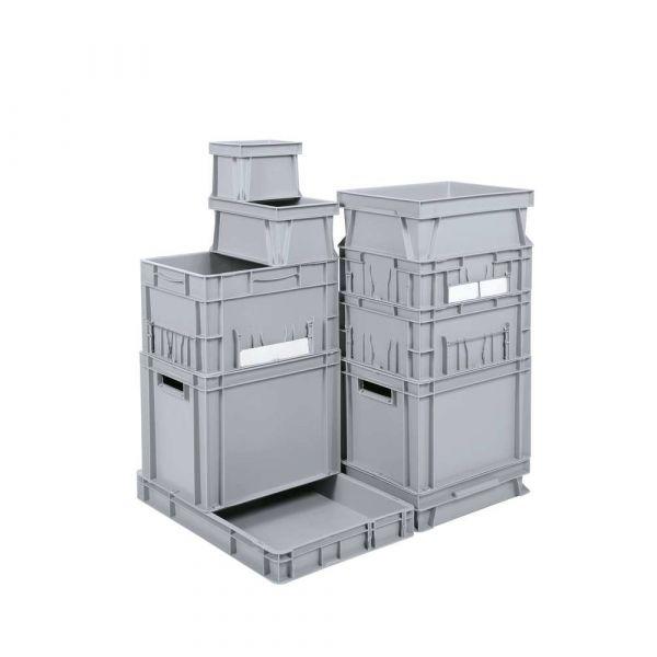 Euro-Stapelbehälter 600 x 400 x 120 mm - grau