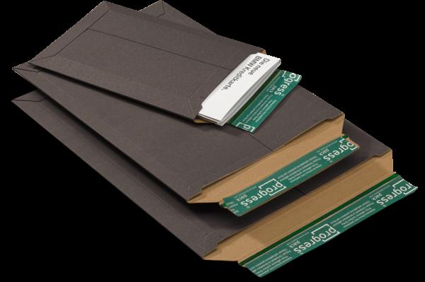 Versandtasche VP schwarz - AM: 321 x 455 x -32 mm