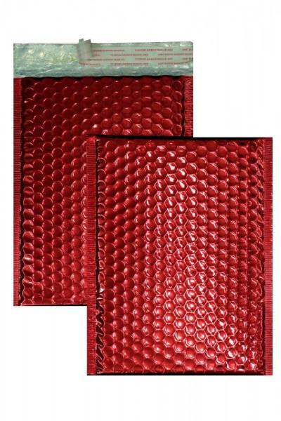 Luftpolstertaschen rot glänzend - 200 x 250 mm - 10 Stück