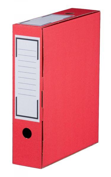 Archiv-Ablagebox 80 rot, geschlossen, 315 x 76 x 260 mm