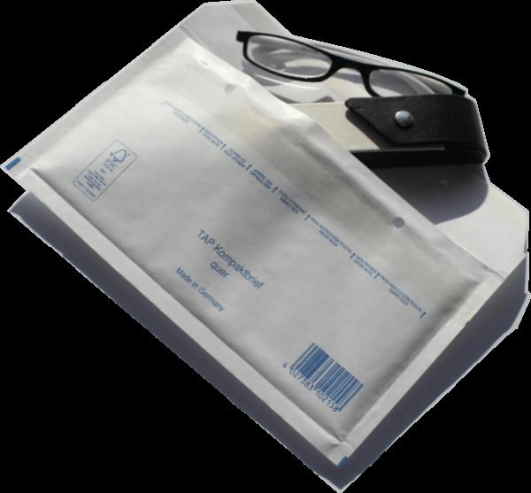 Luftpolstertasche A-0 Kompaktbrief weiß / 235 x 125 mm - 100 Stück