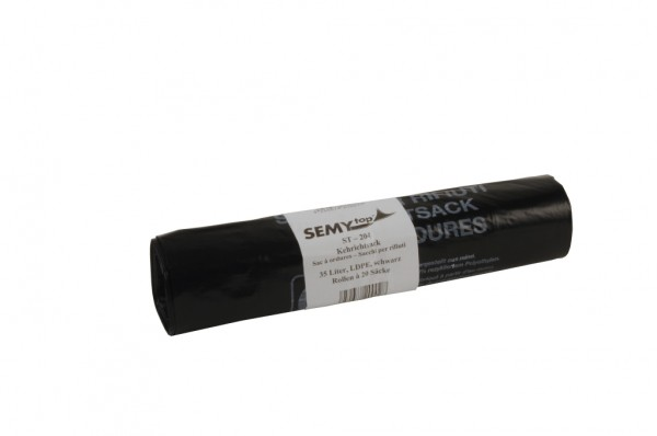 LDPE Kehrichtsäcke, 280 + 270x680, schwarz - 500 Stück
