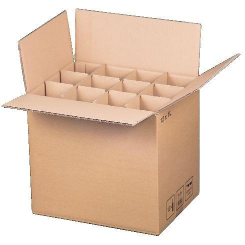 12 er Flaschenverpackung 370 x 280 x 330 mm