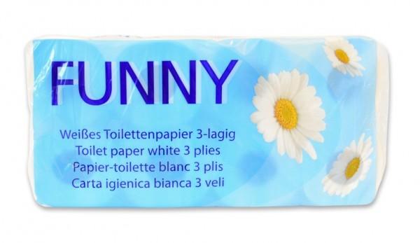 "Toilettenpapier ""Funny"" 3-lg hochweiss - 72 Rollen"