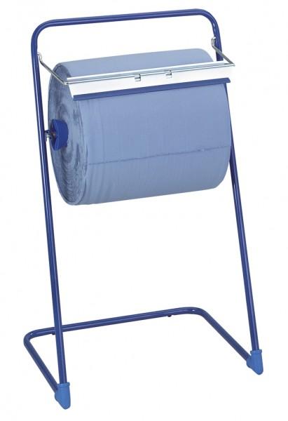 Putztuchrollen-Spender Bodenständer Metall blau