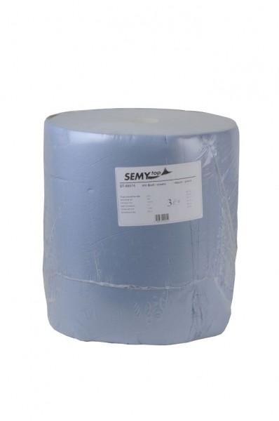 """Putztuchrolle """"SEMYtop"""", 3-lagig, blau, 37 x 32 cm, 1 Rolle"""