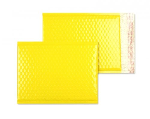 Luftpolstertaschen gelb glänzend - 200 x 250 mm - 10 Stück