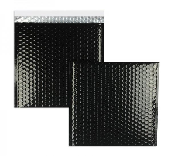 Luftpolstertaschen schwarz glänzend 170 x 185 mm - 10 Stück