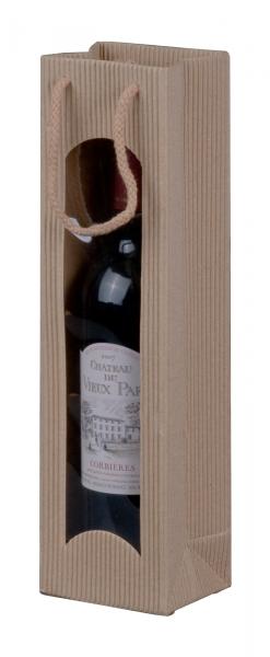 """Tragetasche """"natura"""" für 1 Weinflasche 100 x 80 x 360 mm"""