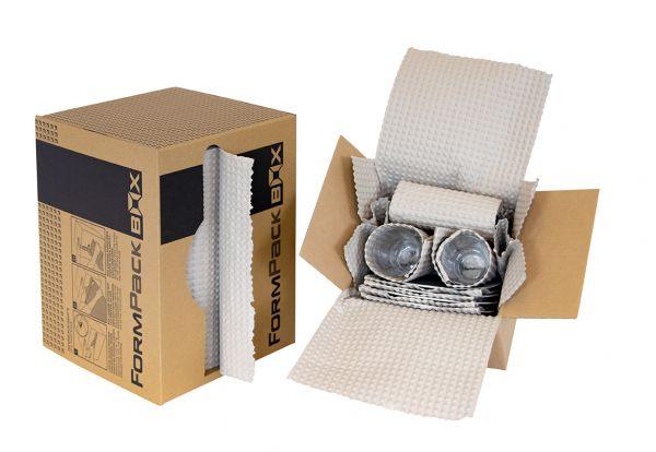Formpack / Prägepapier Breite 35 cm x 55 lfm. - Spenderbox - 100% Recyclingpapier