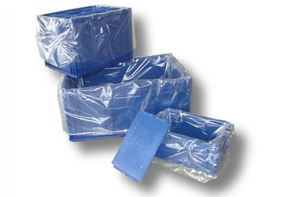 Seitenfaltensäcke 415 + 315 x 650 mm - transparent - 500 Stück