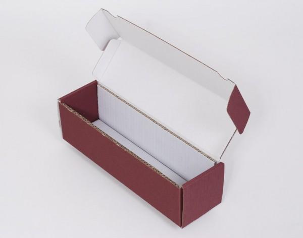 1er Geschenkkarton rot / bordeaux - offene Wellpappe