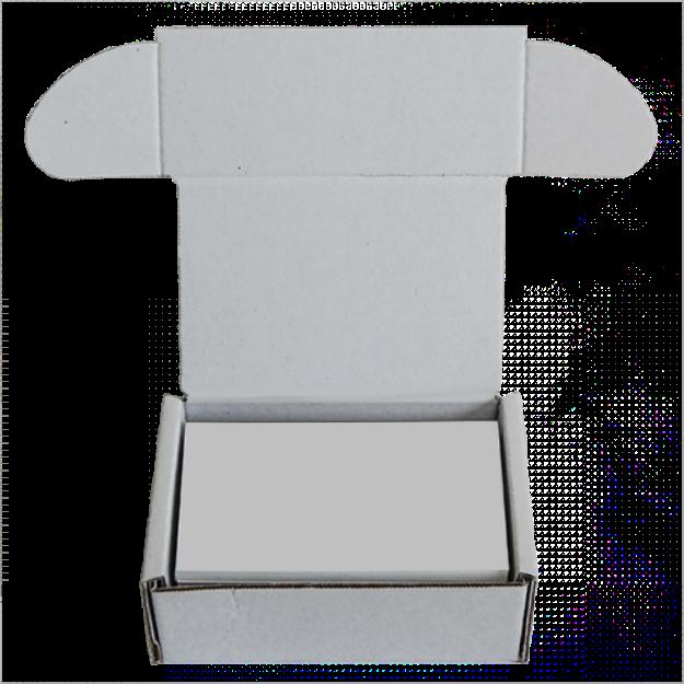 Faltkiste 90 X 60 X 40 Mm Weiß Visitenkarten Box