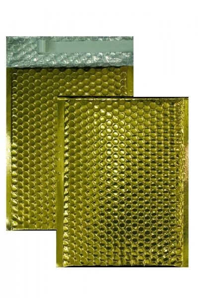 Luftpolstertaschen gold glänzend - 200 x 250 mm - 10 Stück