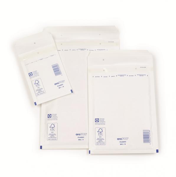 Luftpolstertasche C-3 weiß 170 x 225 mm - DIN A6 - 100 Stück Arofol