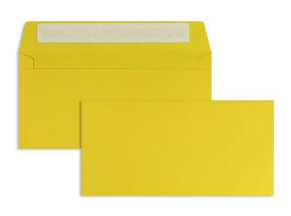 Briefumschlag 110 x 220 mm (DIN Lang) - 100 Stück / VE - Gelb