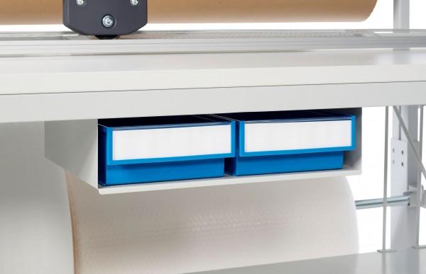 Werkzeughalterbox incl. 2 Stück Schubladen / Kunststoffboxen - optional zu Packtisch TPB915/ TPB918